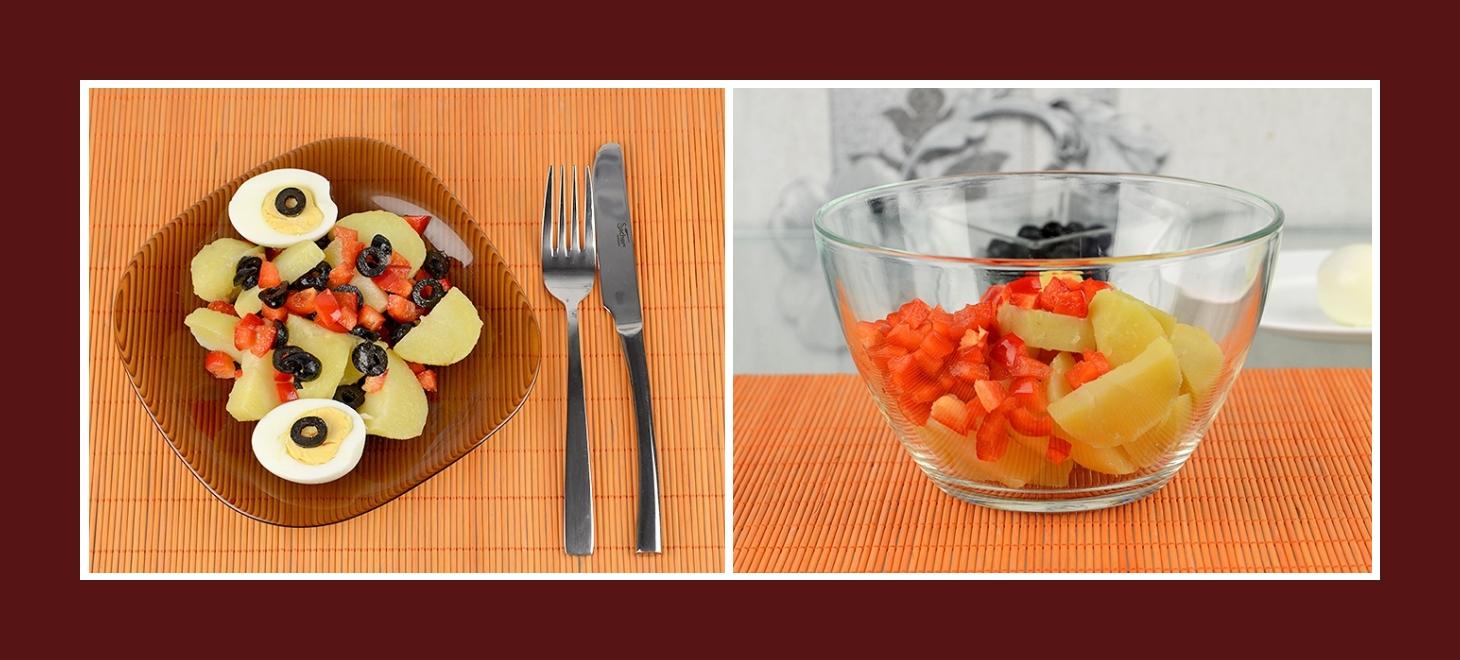 Salat aus Paprika und Kartoffeln