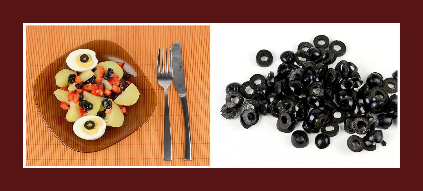Mediterranter Kartoffelsalat mit schwarzen Oliven