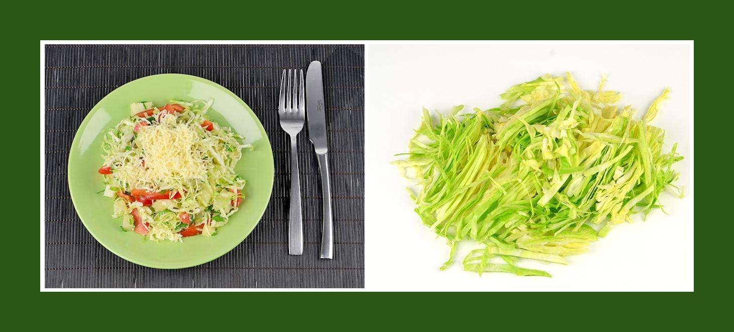 Zarter Salat mit Frühkraut oder Weißkohl