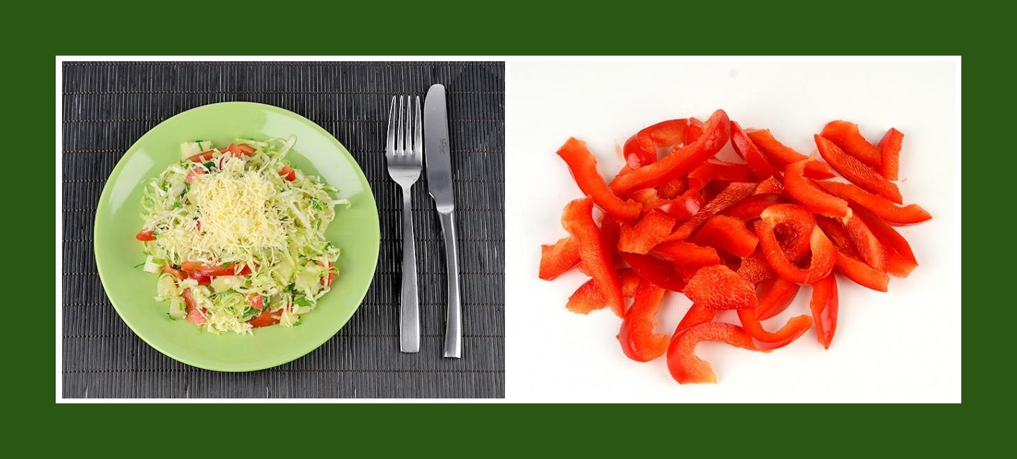Kartoffelsalat mit Paprika rot