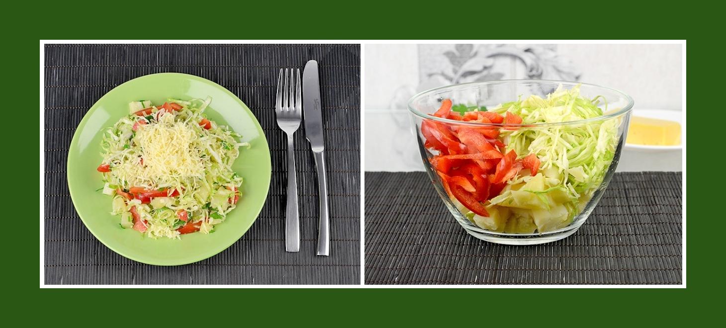 Kartoffelsalat mit Frühkraut und Paprika
