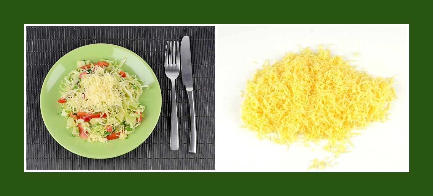 Käse für den zarten Frühlingskartoffelsalat