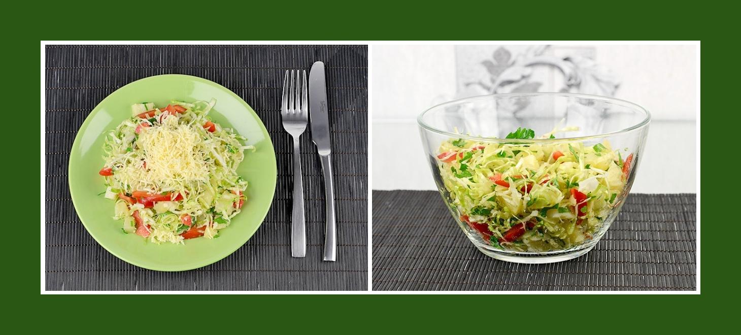 Salat mit Frühlingsgemüse, Kräutern und Kartoffeln