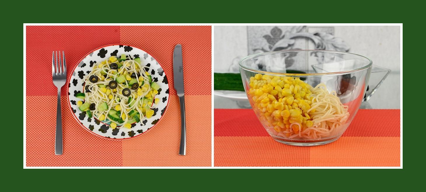 Nudelsalat mit Mais