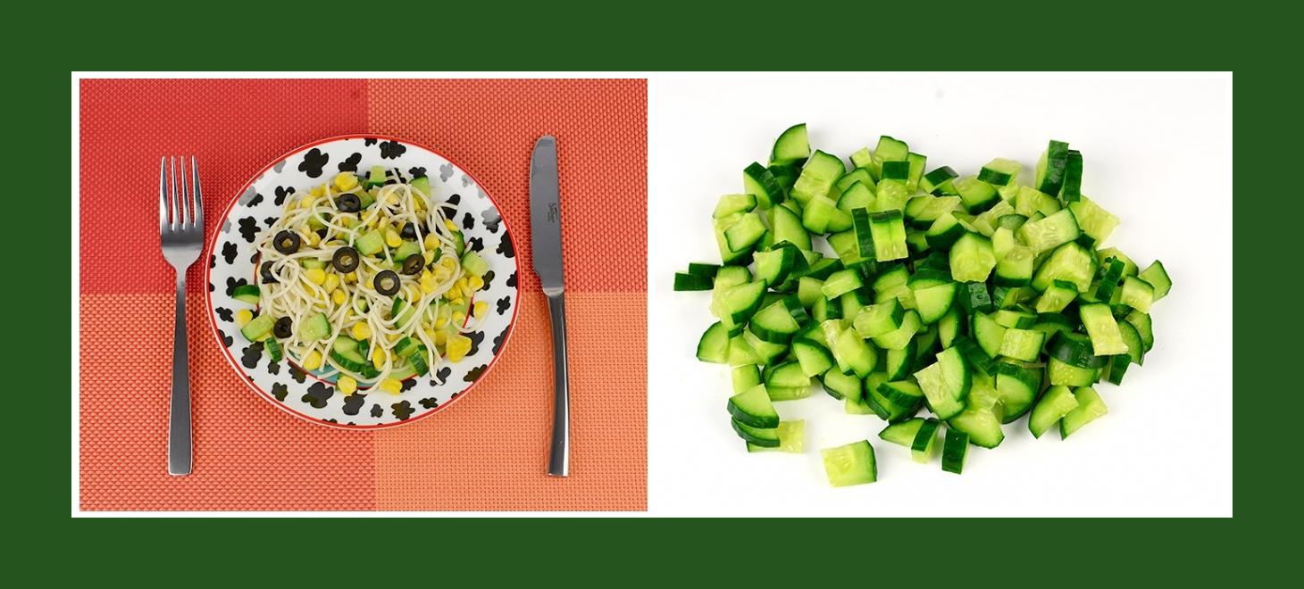 Nudelsalat mit Gurken