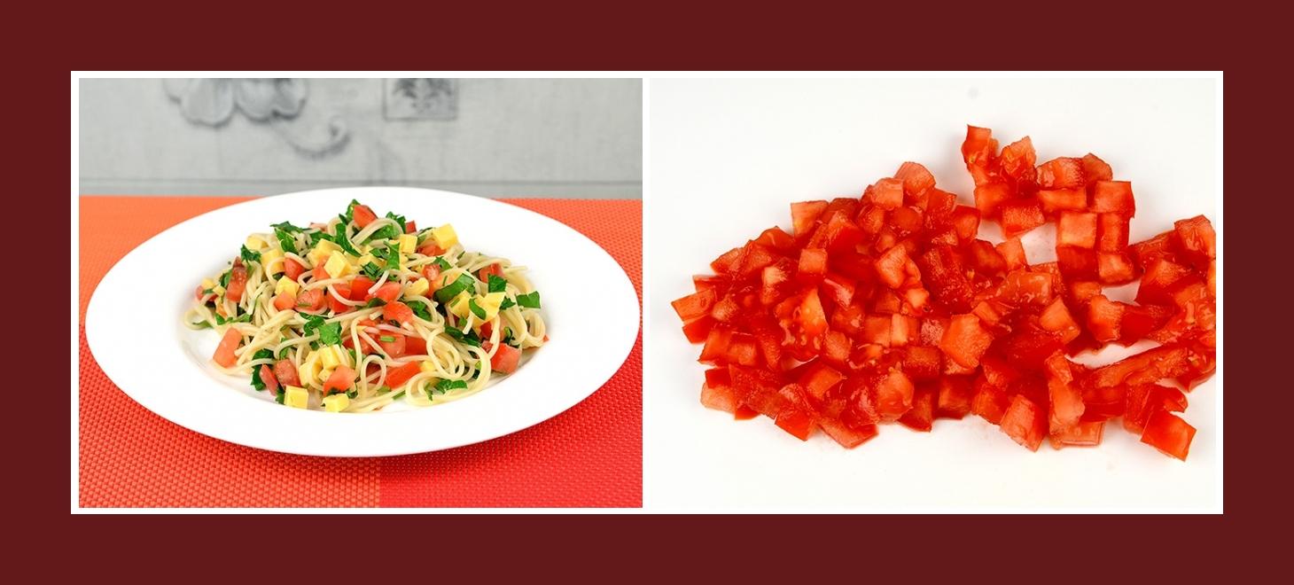 Spaghettisalat mit Tomaten