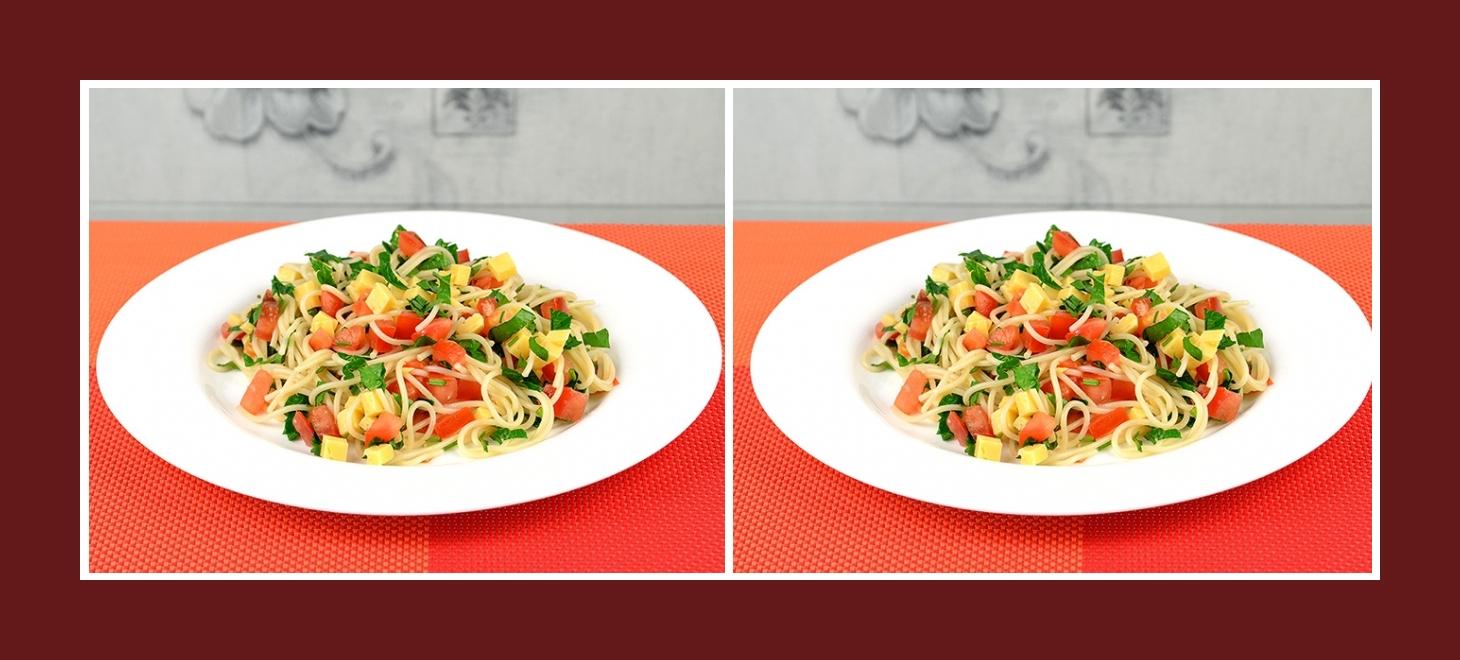 Bunter und gesunder Nudelsalat im mediterranem Stil
