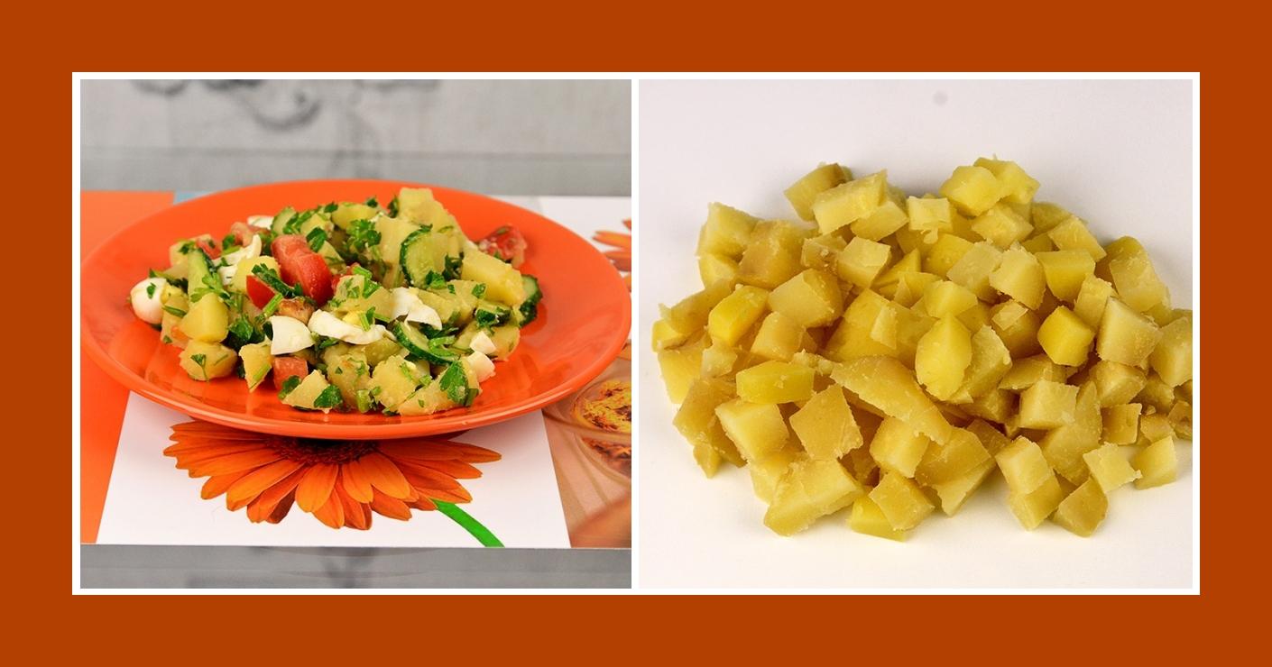 Gemüsesalat mit Kochkartoffeln