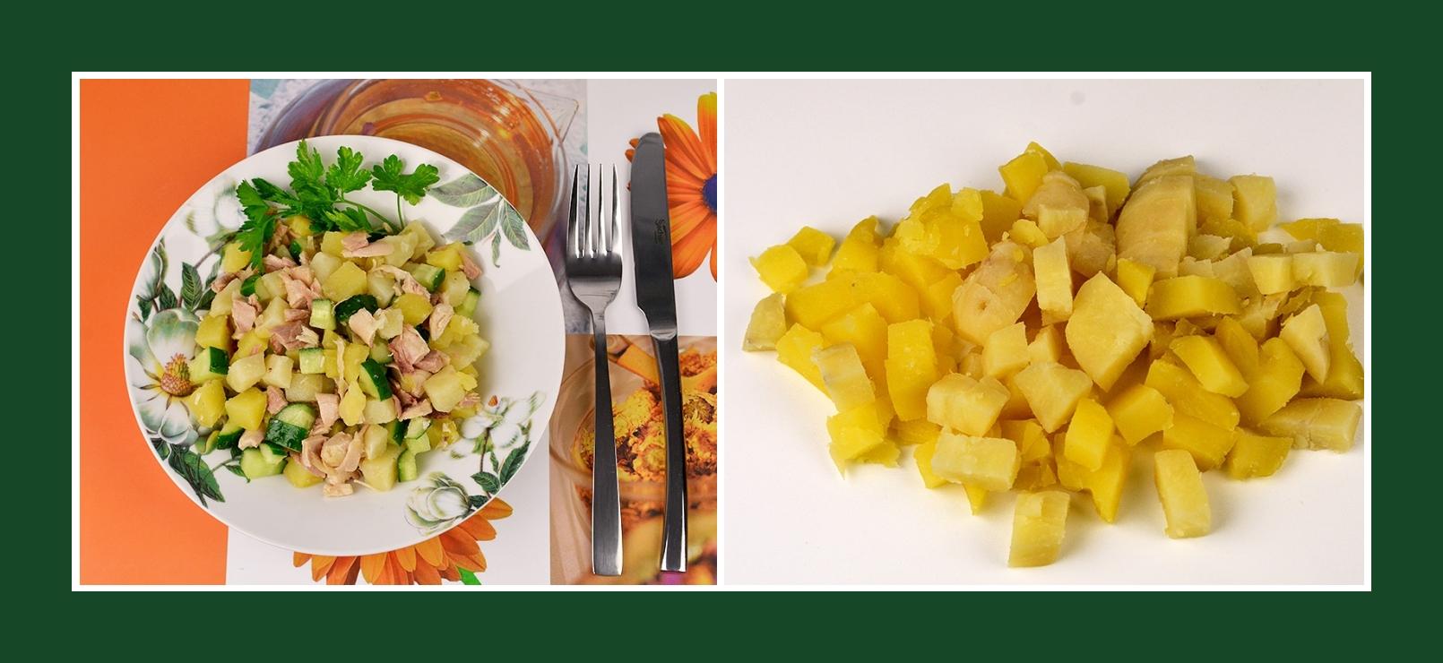 Minutenschneller Salat aus Kochkartoffeln