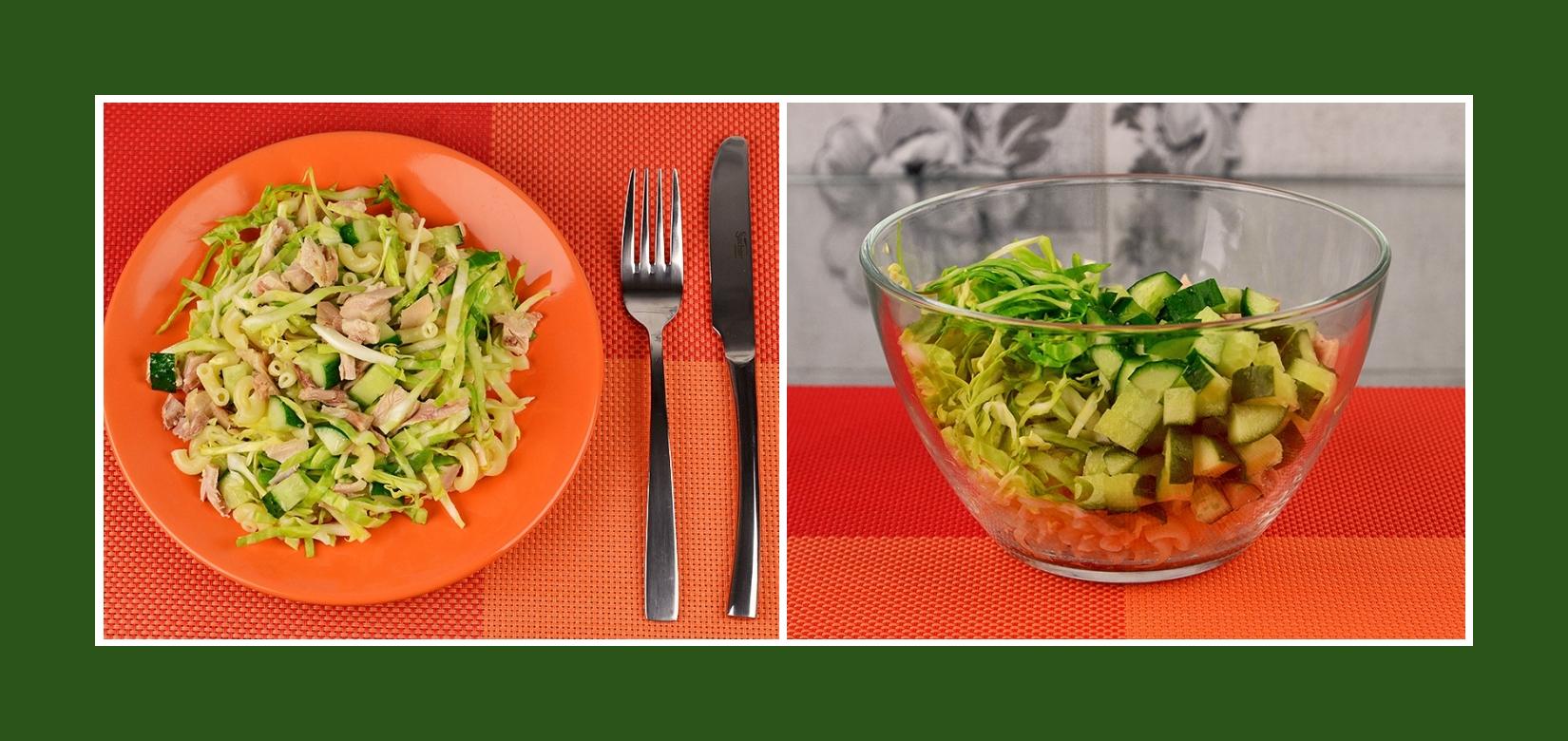 Nudelsalat mit Putenfleisch, Gurken und Frühkraut