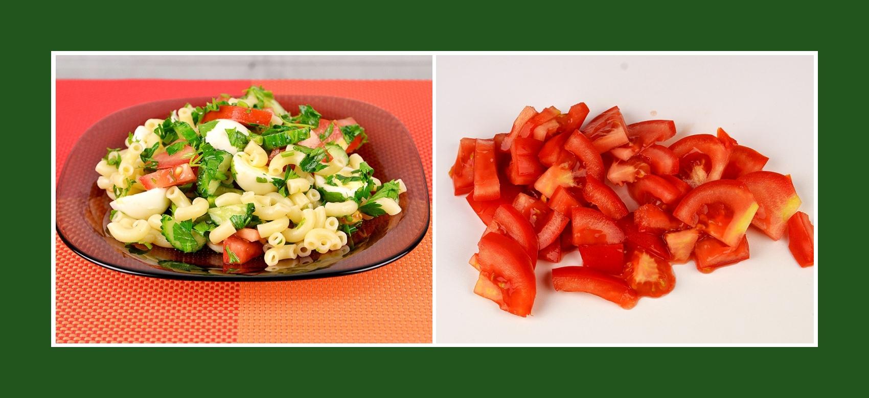 Nudelsalat mit frischen Tomaten