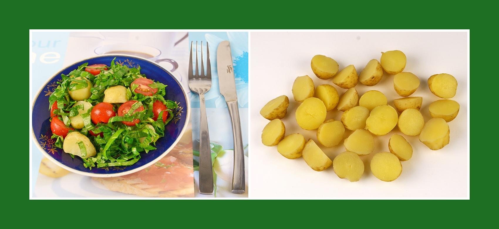 Frühlingssalat mit Frühkartoffeln