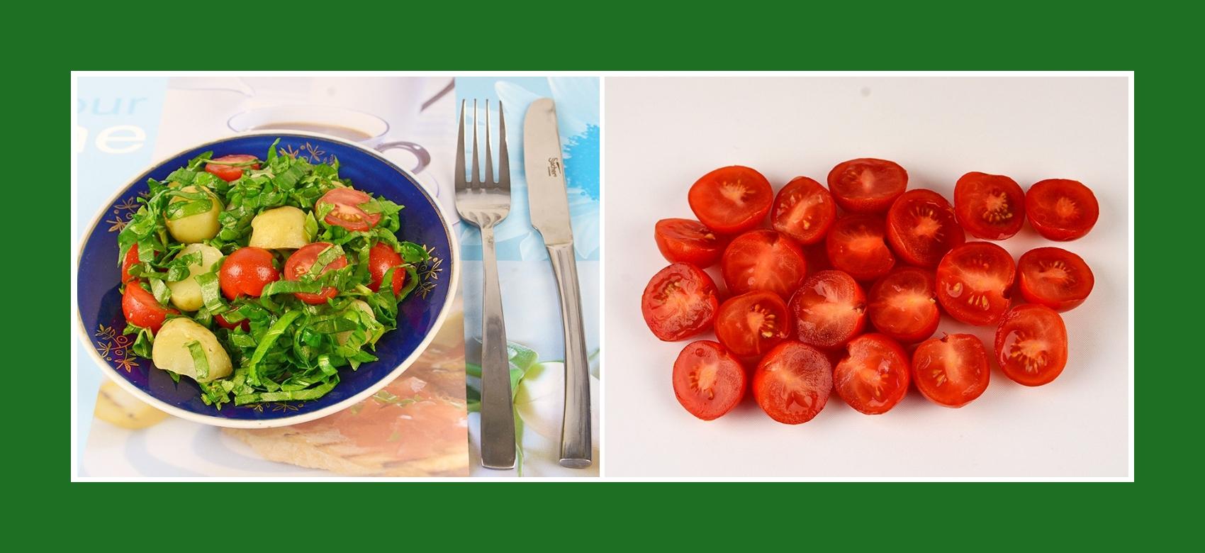 Frühlingssalat mit Cherrytomaten