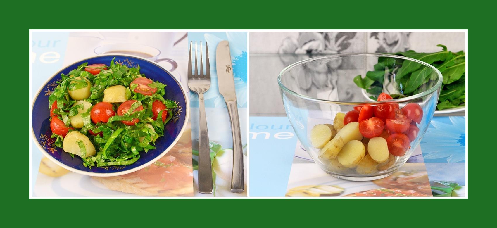 Salat mit Frühkartoffeln und Cherrytomaten