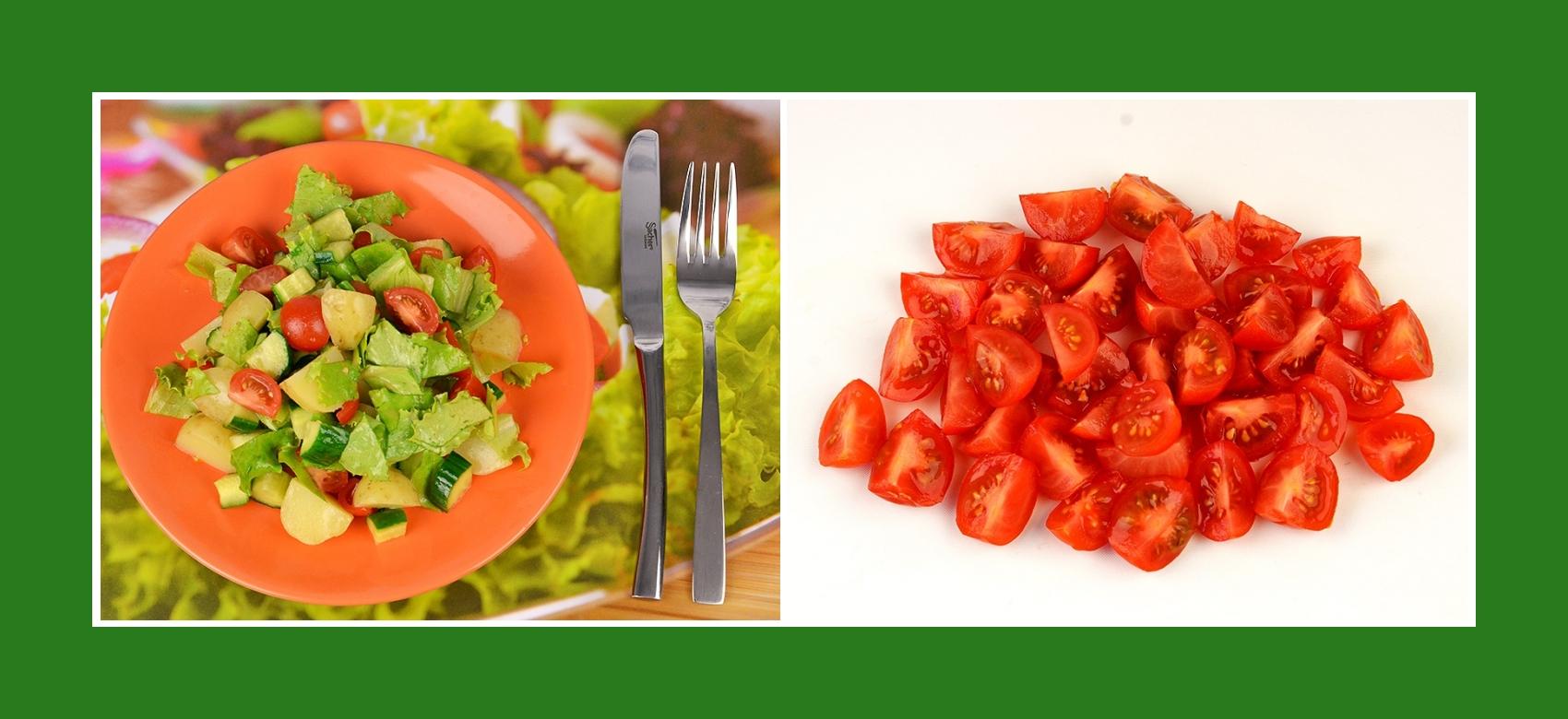Cherrytomaten, kleine Tomaten für Frühkartoffelsalat