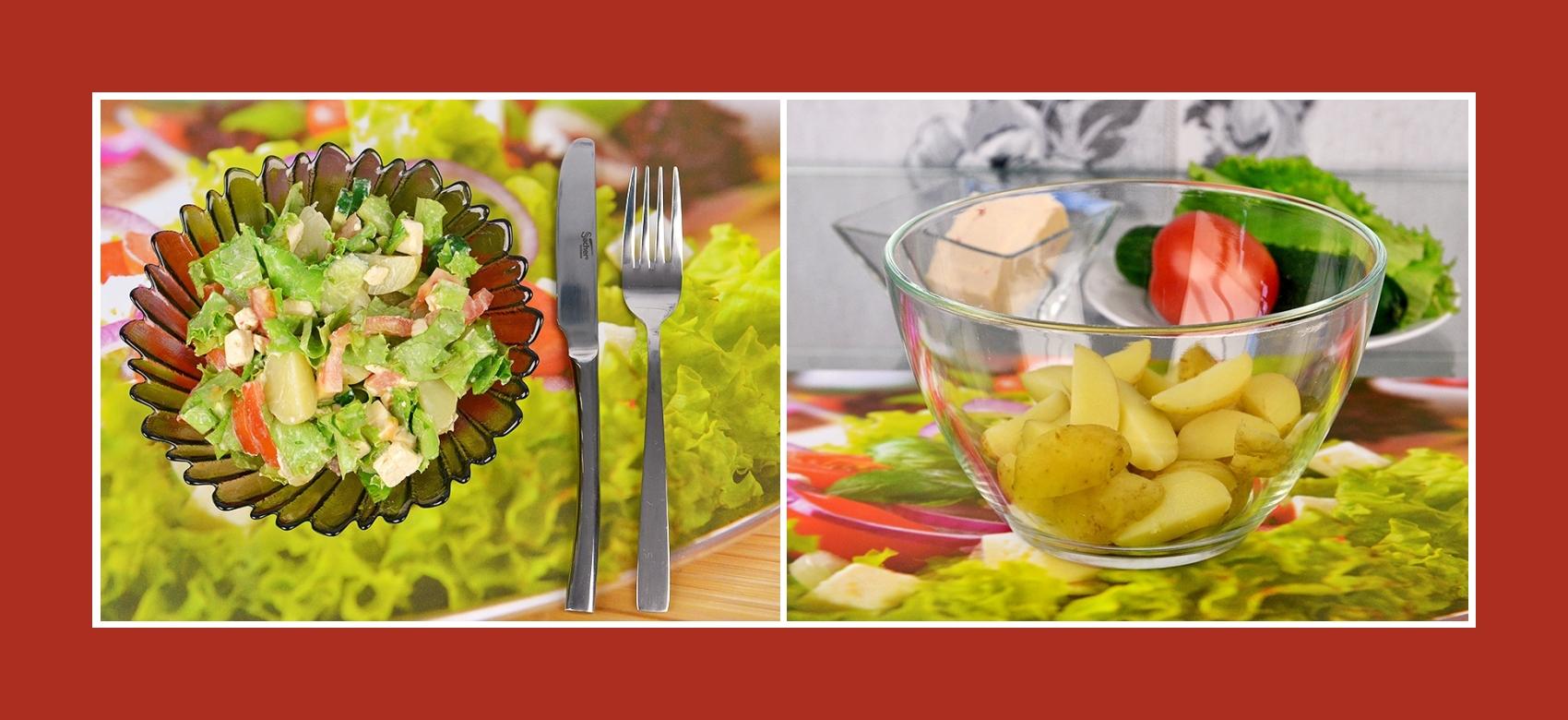 Salat aus Frühkartoffeln