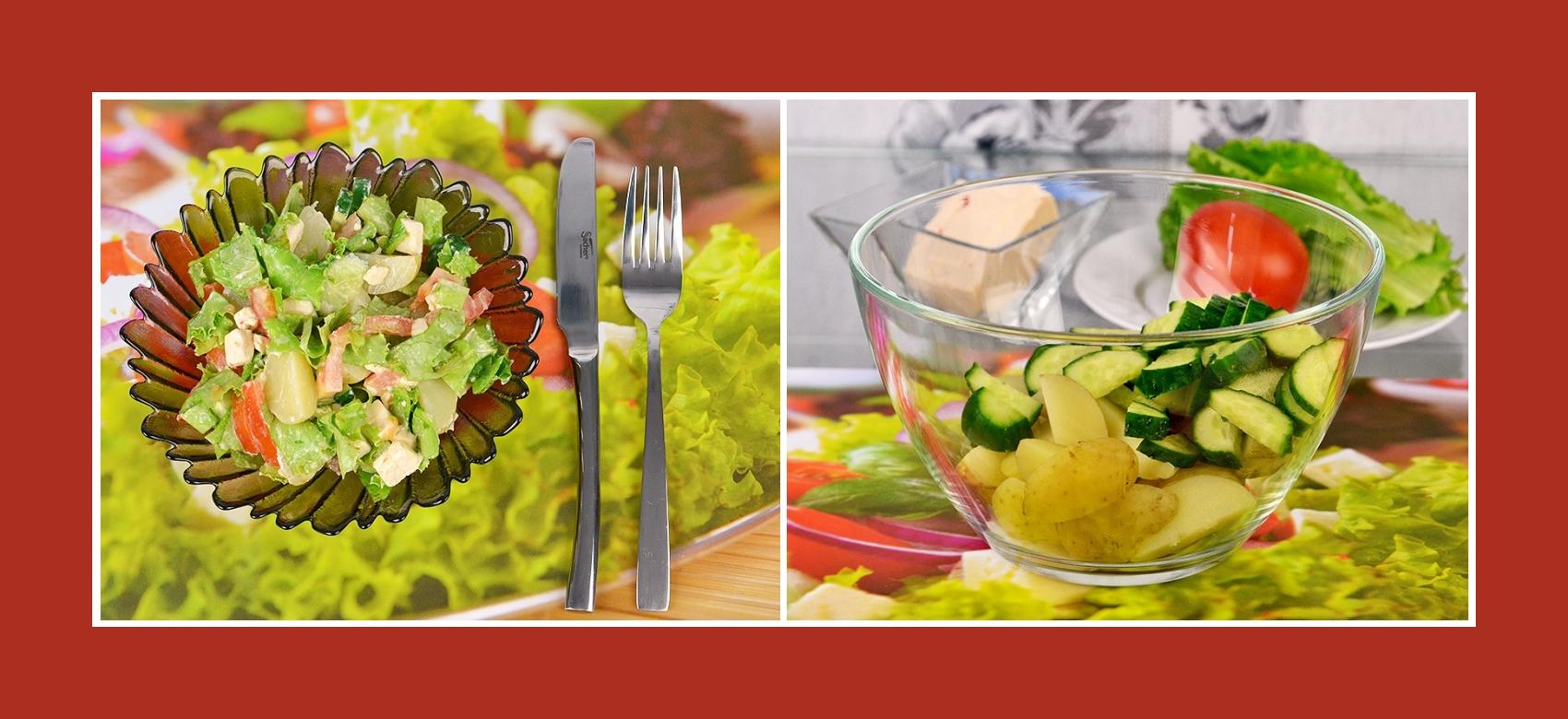 Salat aus Gurken und Frühkartoffeln