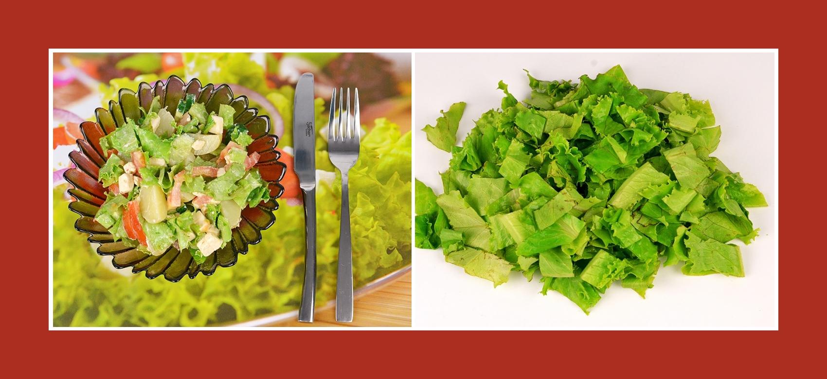 Gartensalat für Kartoffelsalat mit Schmelzkäse