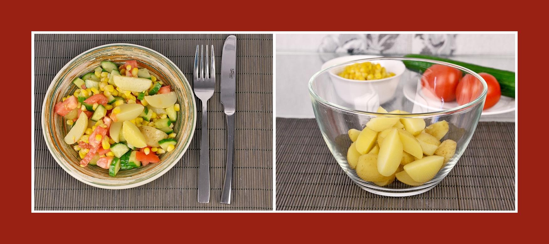 Frühkartoffeln für sommerlichen Salat mit Gemüse