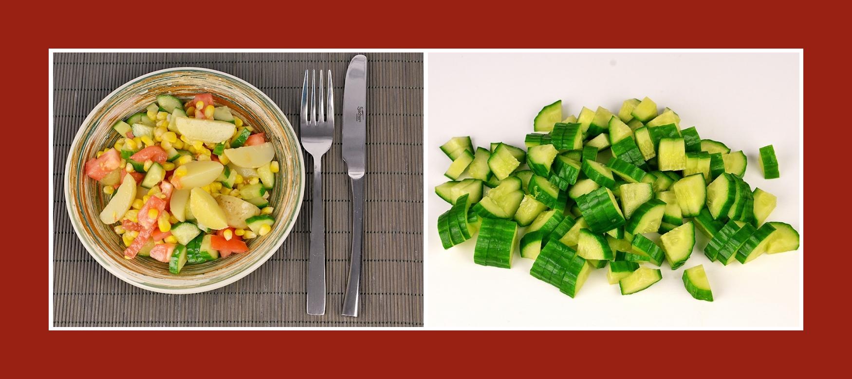 Gurken für sommerlichen Kartoffelsalat