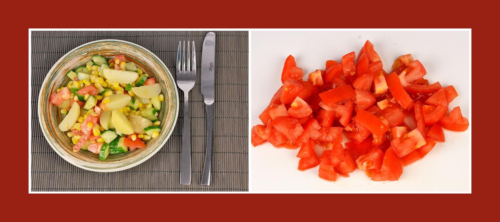 Tomaten für sommerlichen Kartoffelsalat