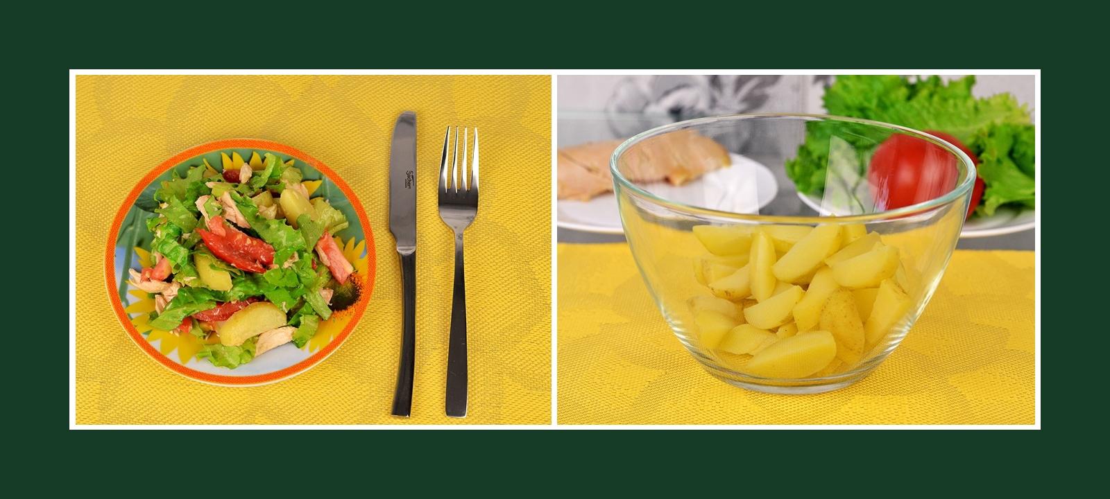 Festlicher Salat mit Frühkartoffeln