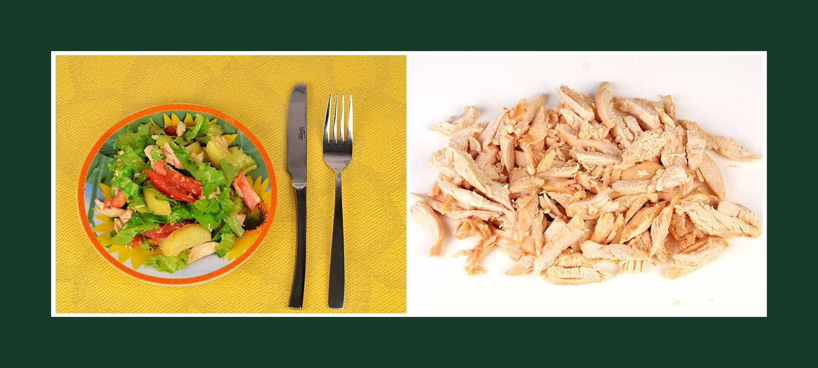 Salat mit Putenbrust Hähnchenfleisch