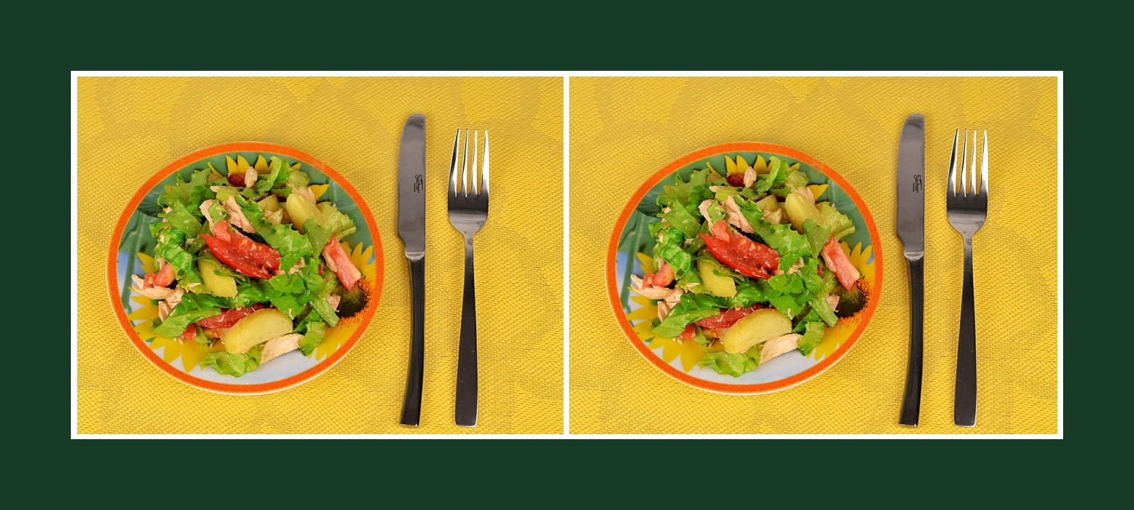 Gesunder Gemüsesalat mit Fleisch und Frühkartoffeln