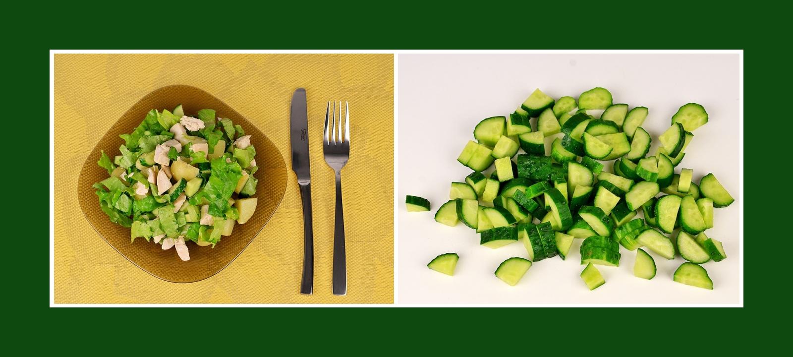 Frische Gurke für sommerlichen Kartoffelsalat