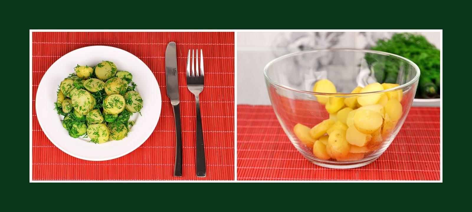 Leckere und erfrischende Beilage mit Frühkartoffeln