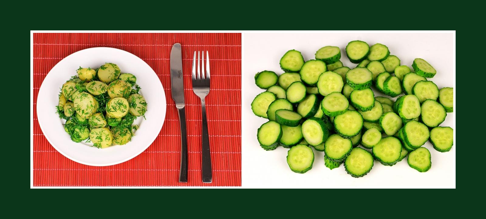 Frische Gurken für einfachen Kartoffelsalat