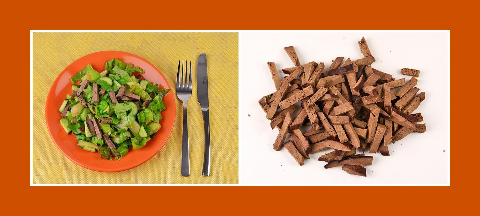 Gegarte Schweineleber Rindleber für Kartoffelsalat