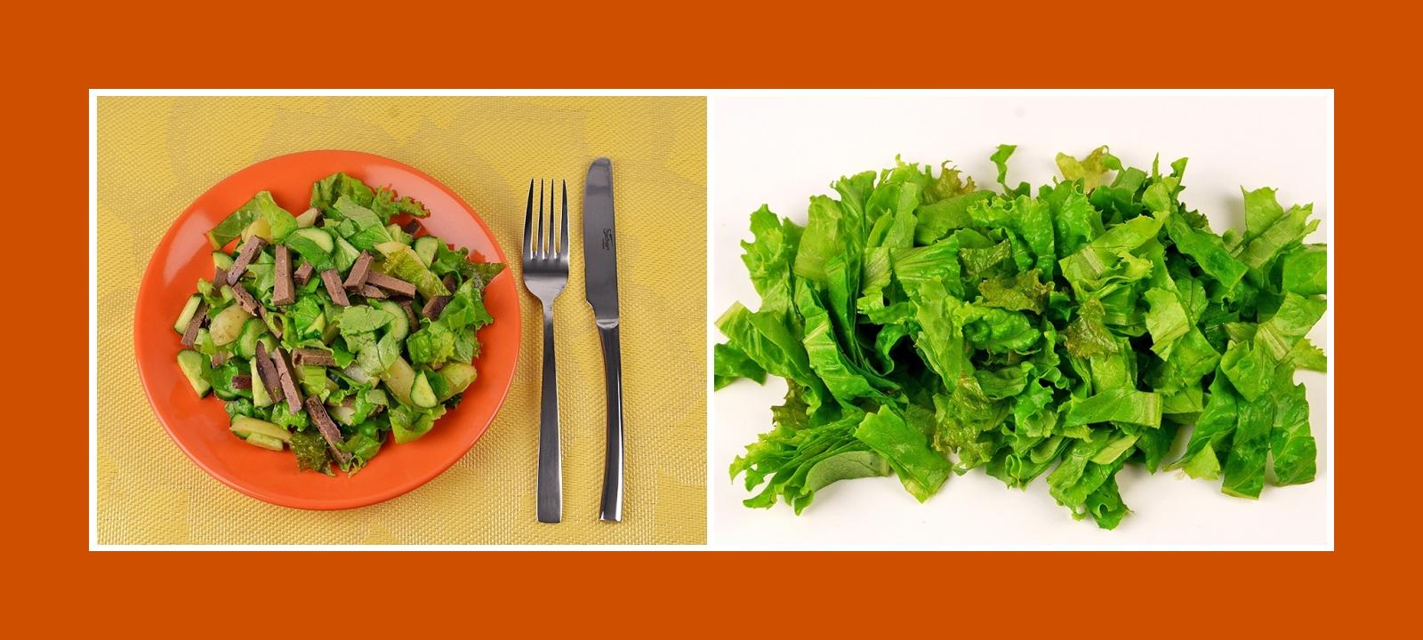 Salatblätter Salat für leckeren Lebersalat Kartoffelsalat