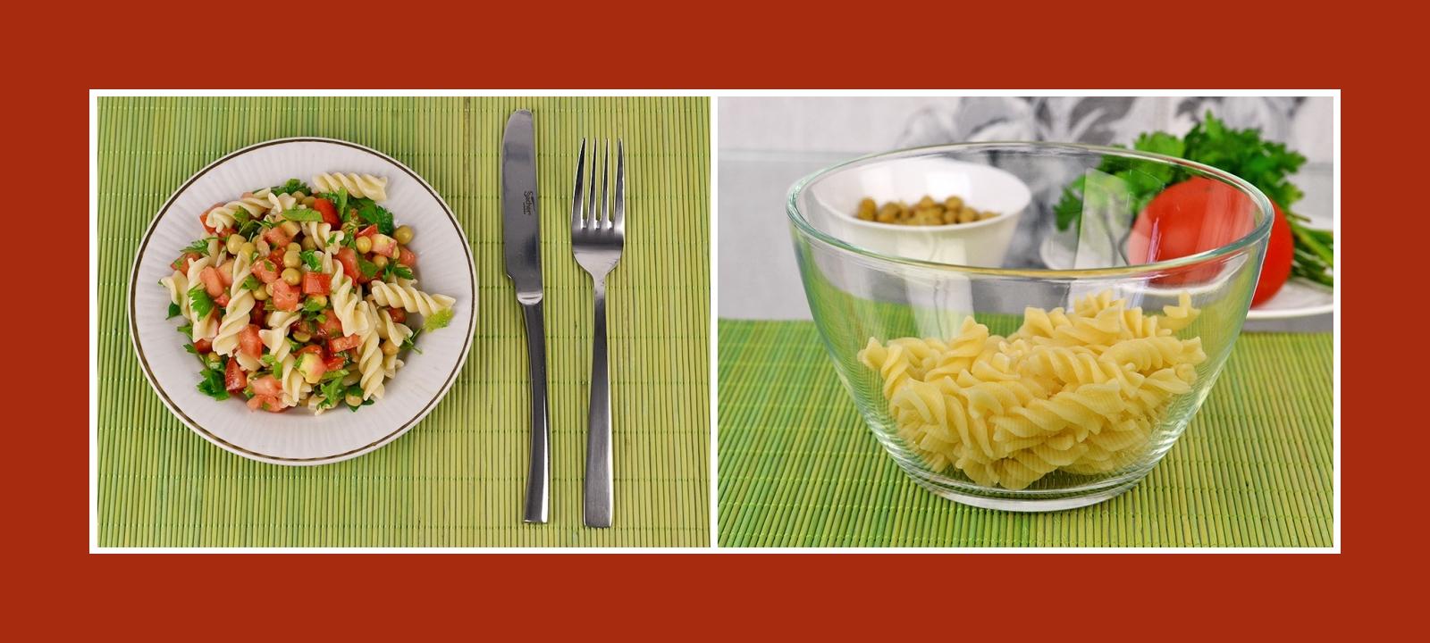Minuten-Salat mit Nudeln