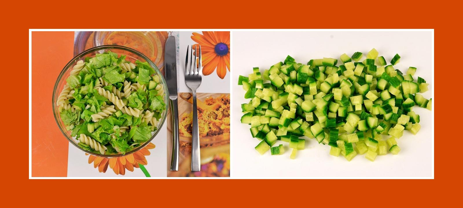 Frische Gurken für Nudelsalat