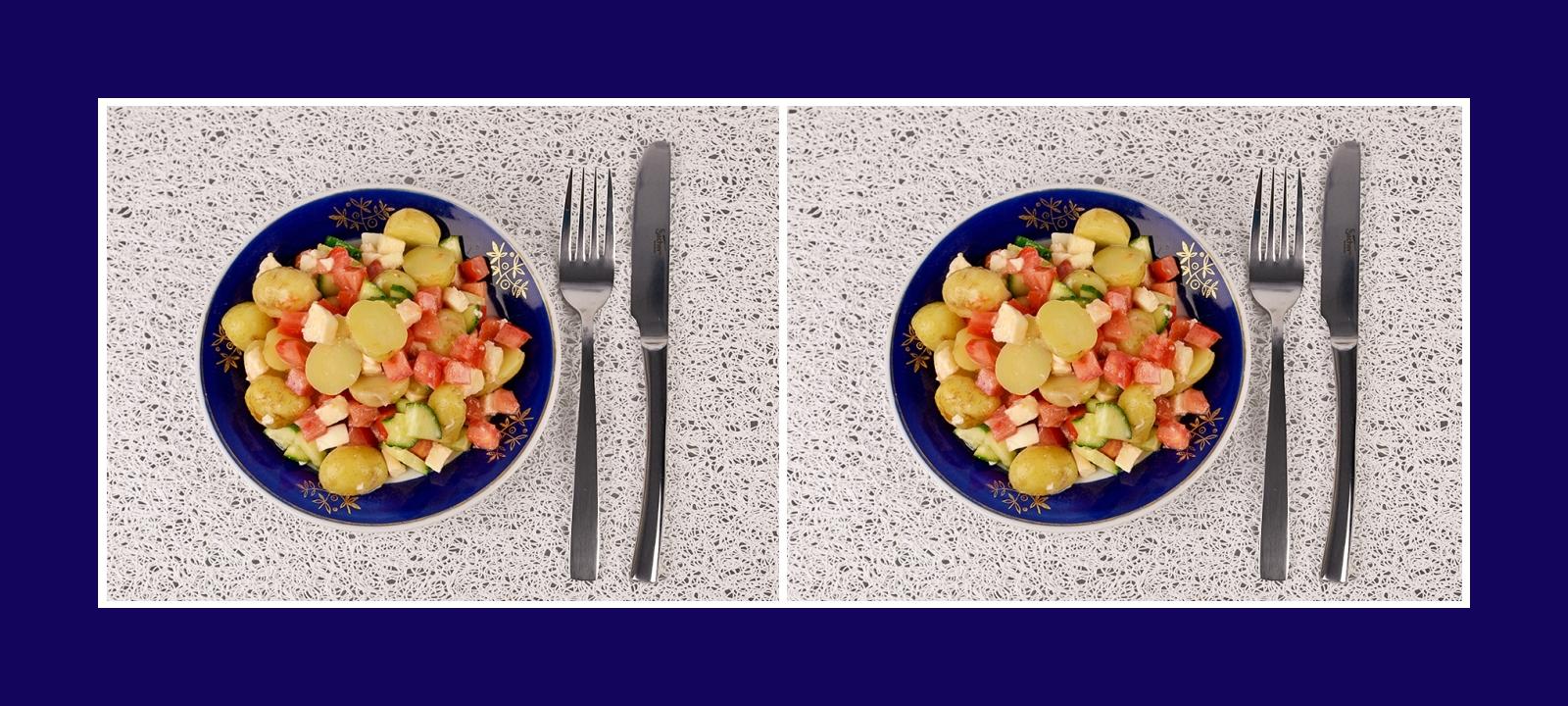 Kartoffelsalat Gemüsesalat auf italienische Art