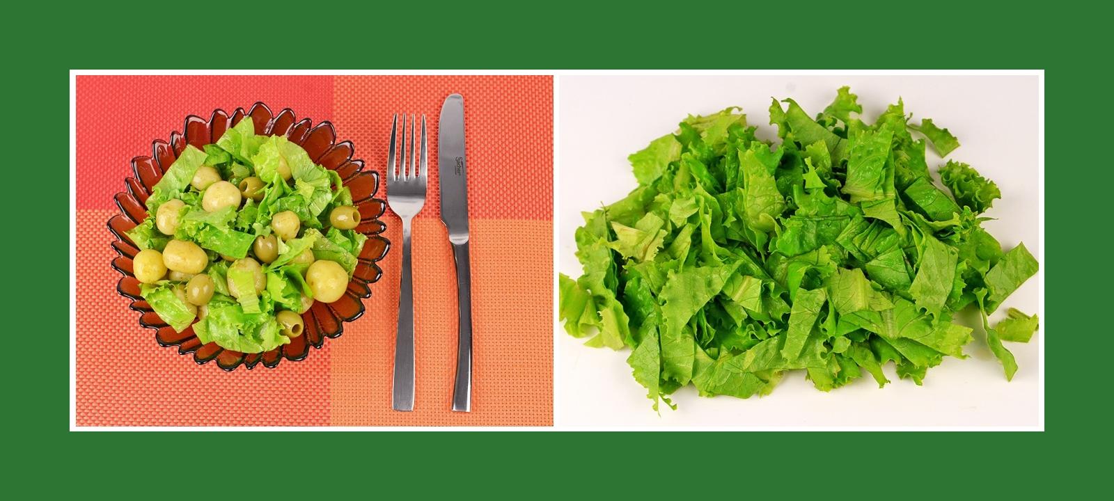 Knusprige Salatblätter für Kartoffelsalat