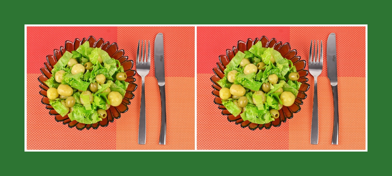 Gesunder Kartoffesalat auf mediterrrane Art mit Oliven