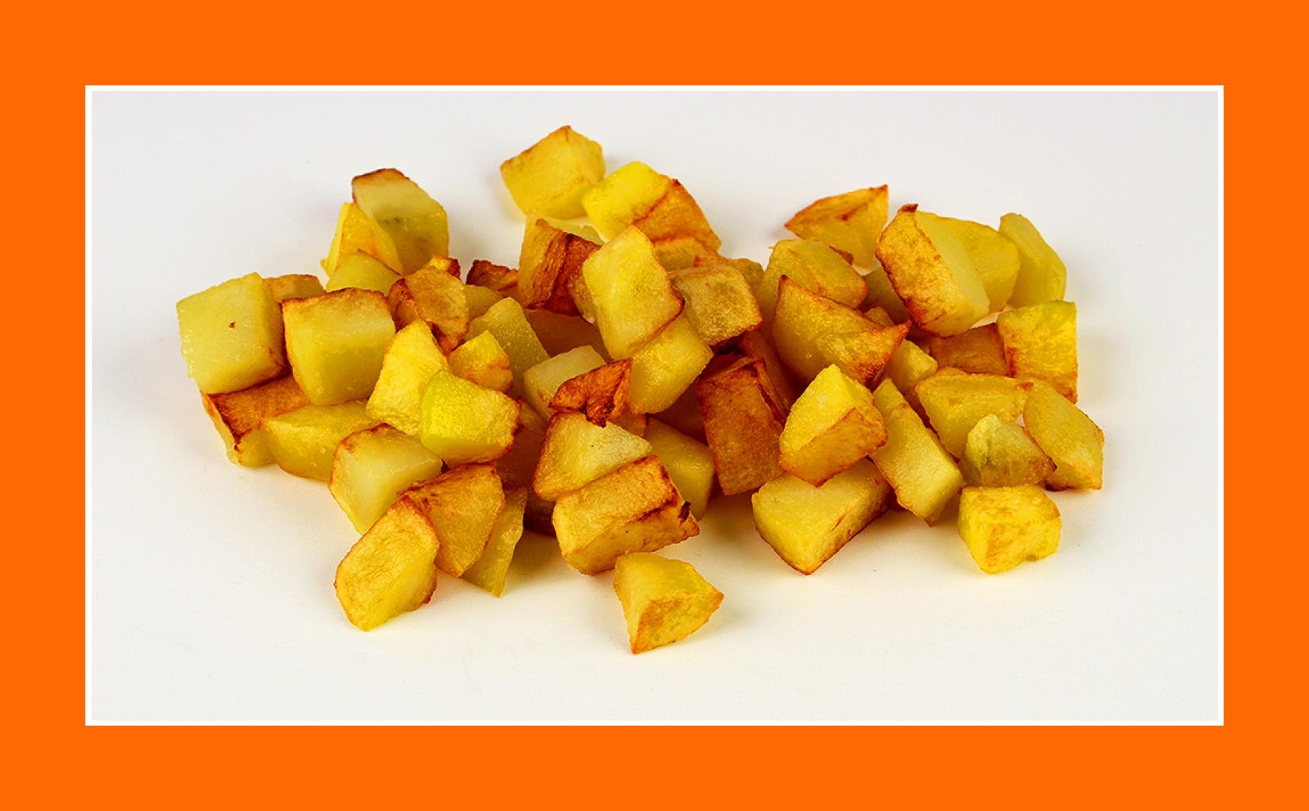 Bratkartoffeln für warmen Kartoffelsalat Rezept