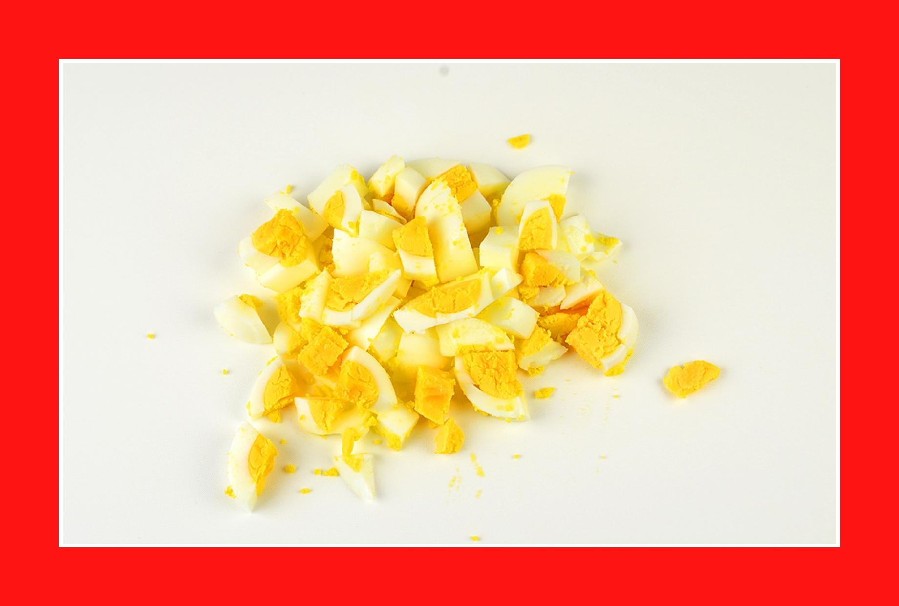 Eier für warmen Salat Kartoffelsalat