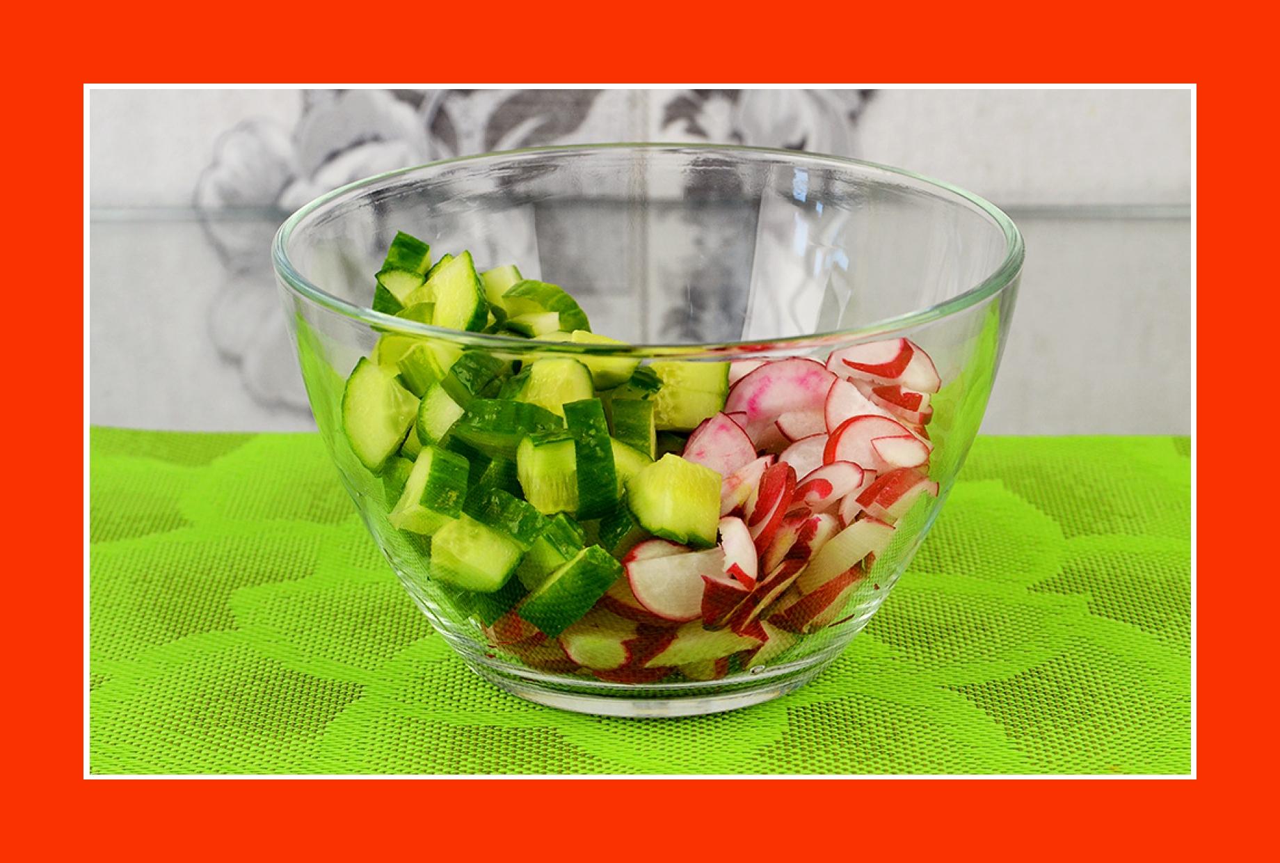Einfacher Gurkensalat Radieschensalat