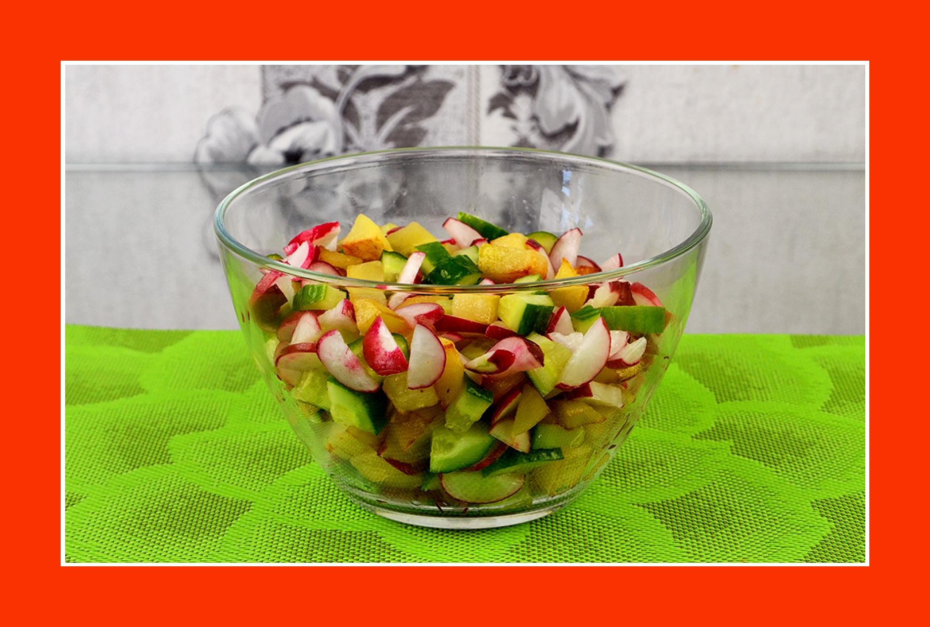 Warmer Kartoffelsalat Radieschensalat Gurkensalat