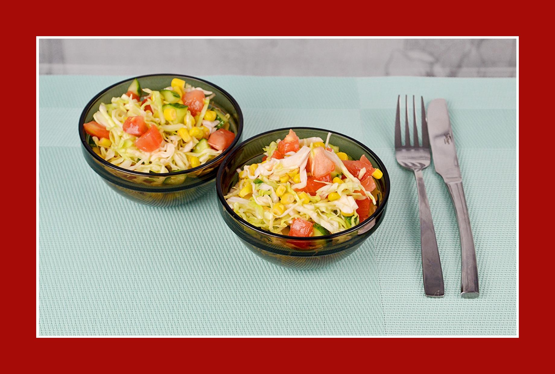 Köstlicher Gurkensalat mit einfachem Dressing
