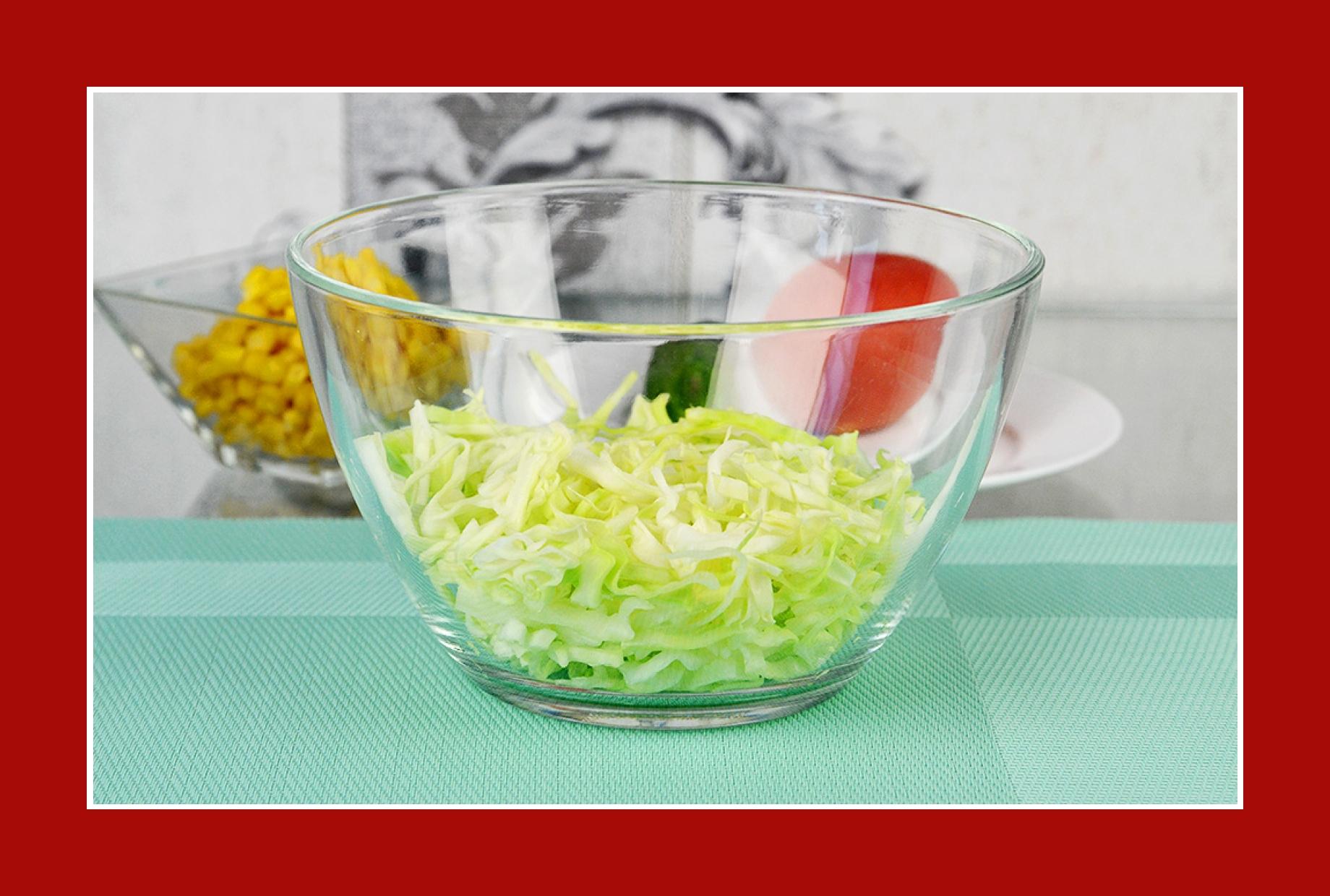 Grillsalat Tomatensalat mit Kohl