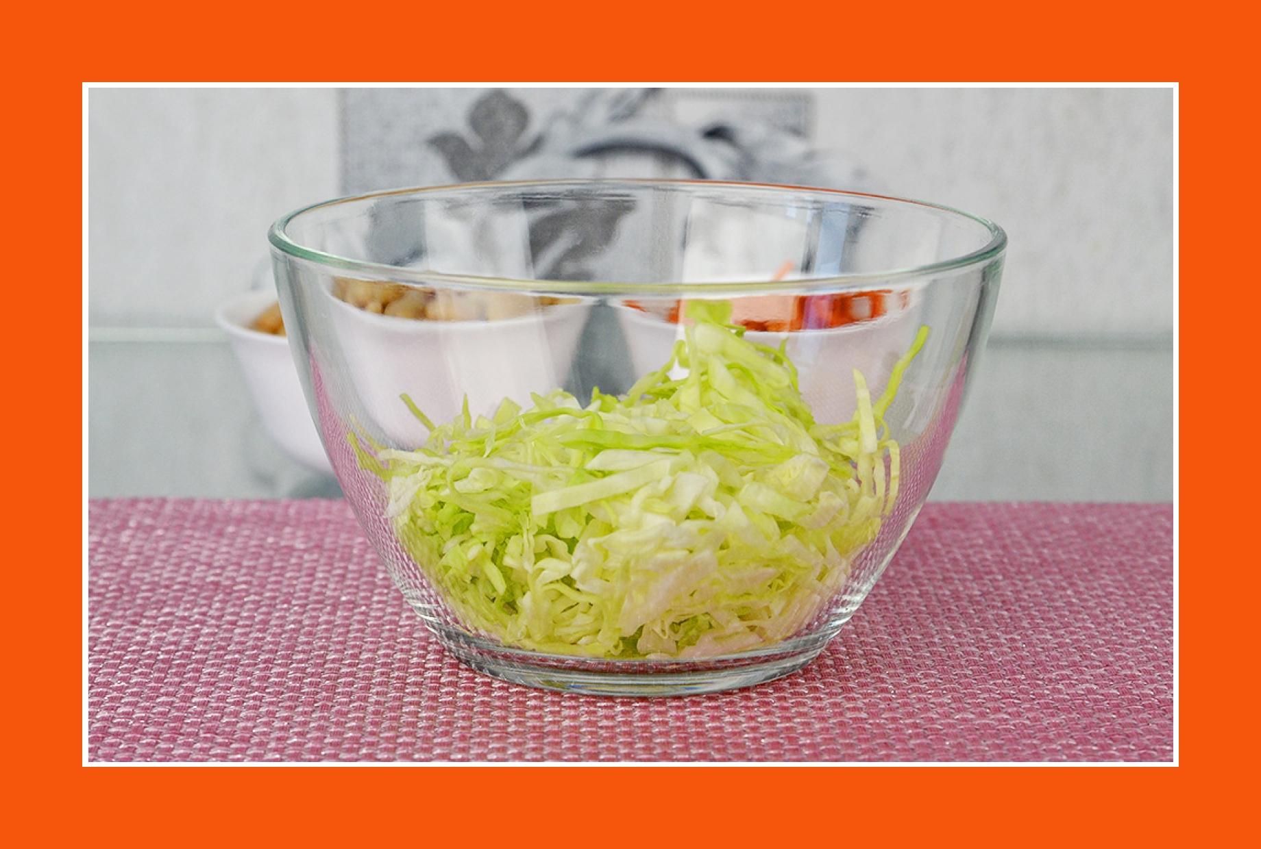 Wintersalat einfacher Salat Rezept mit Weißkohl