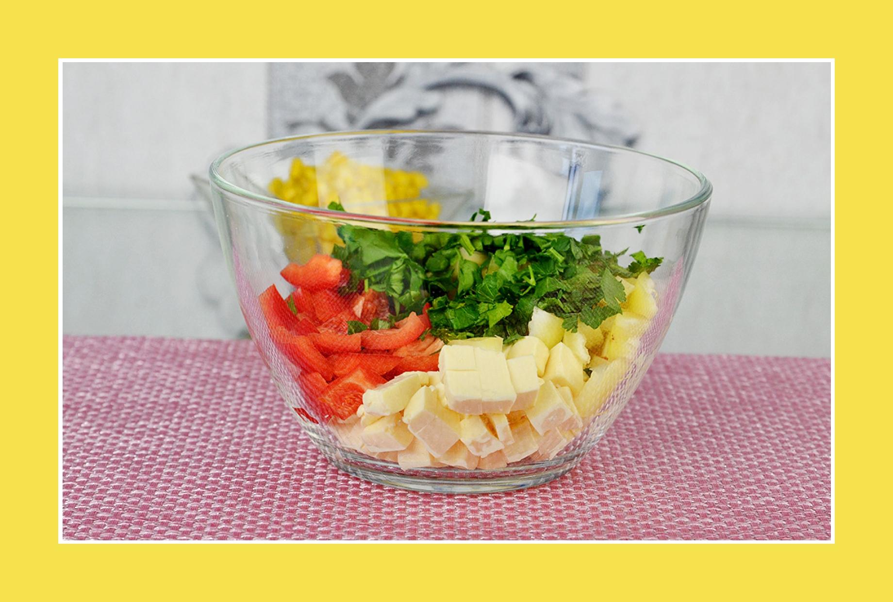 Sommersalat mit Paprika und Petersilie
