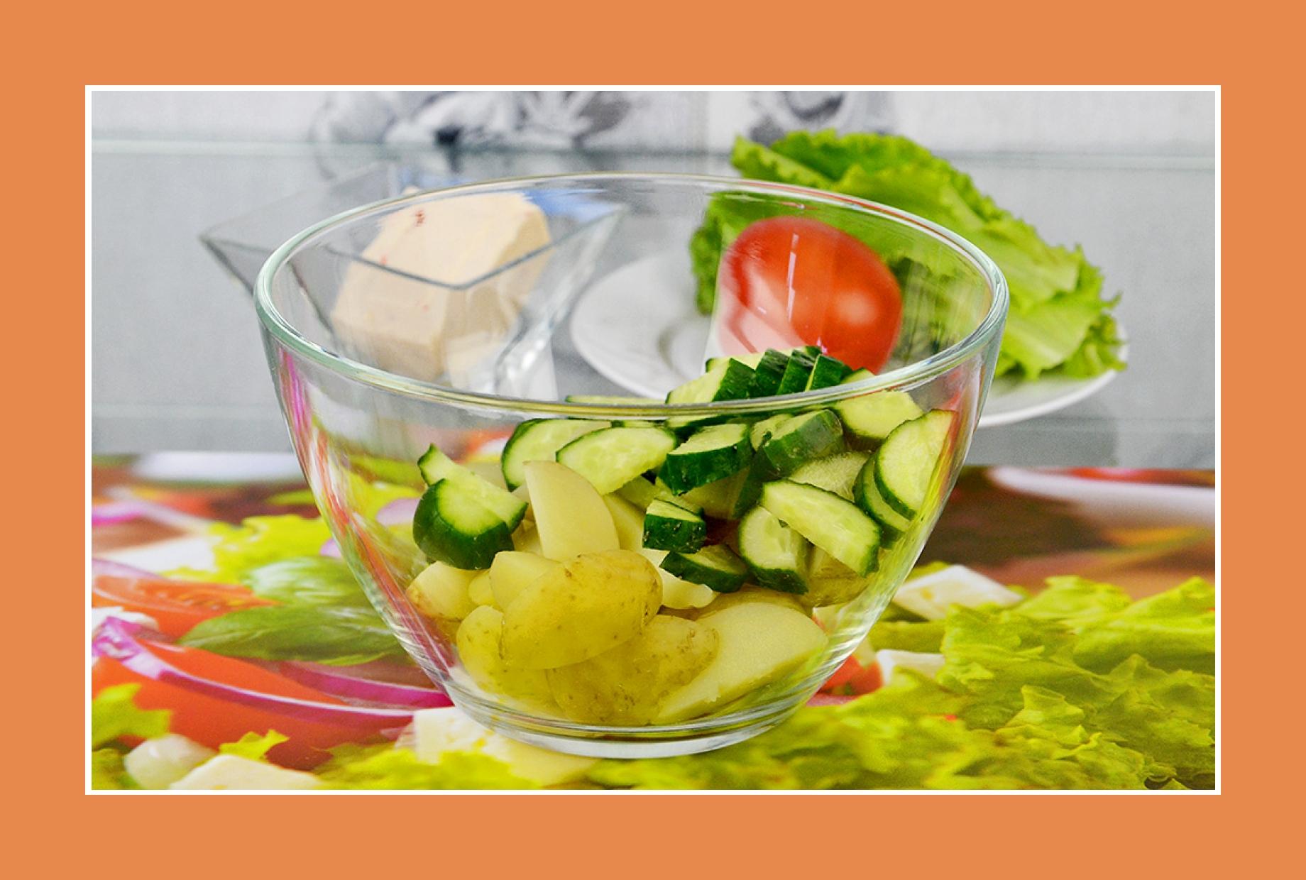 leckerer Salat Rezept Kartoffelsalat mit Gurken