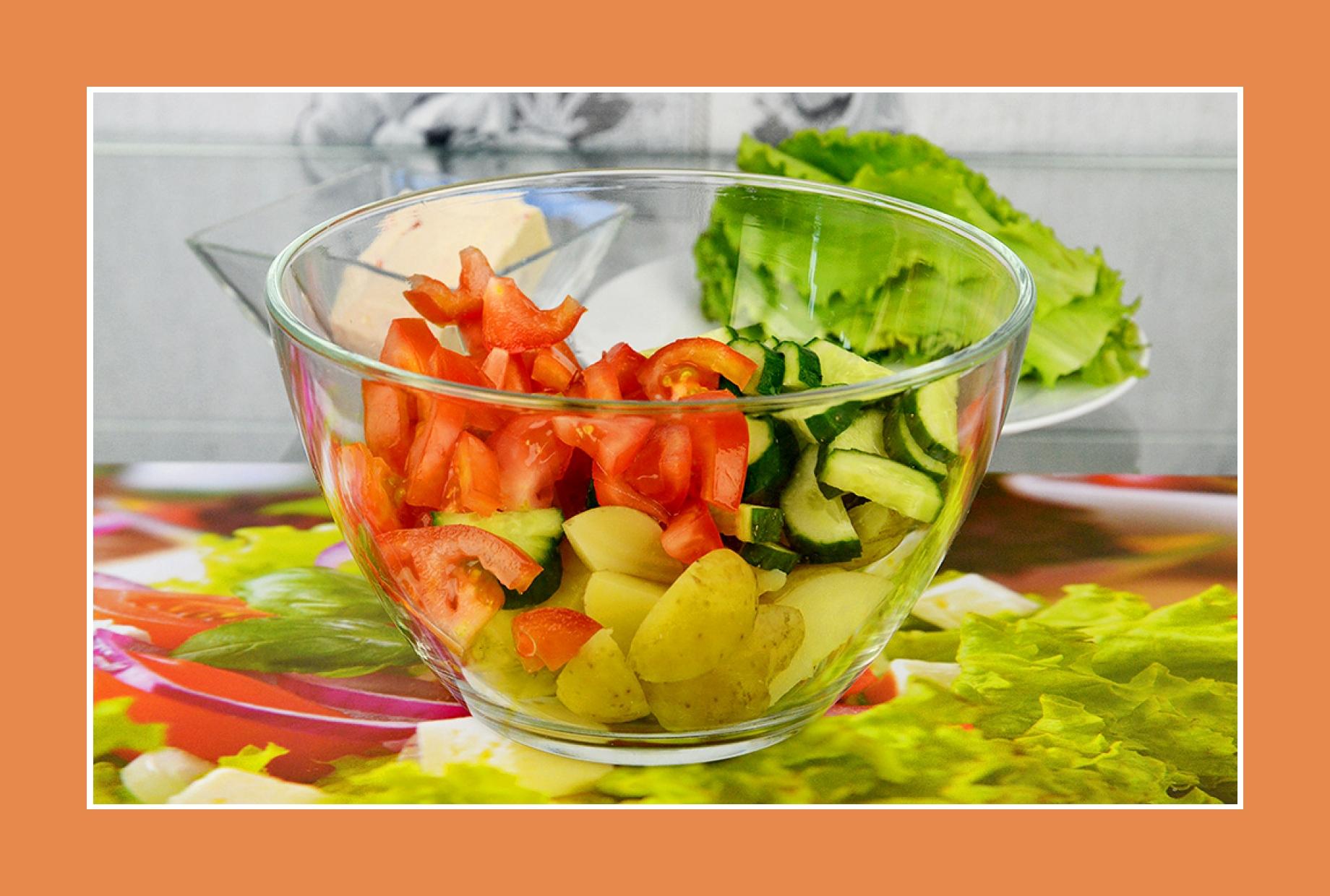 Rezept Tomaten Gurken Salat Kartoffelsalat