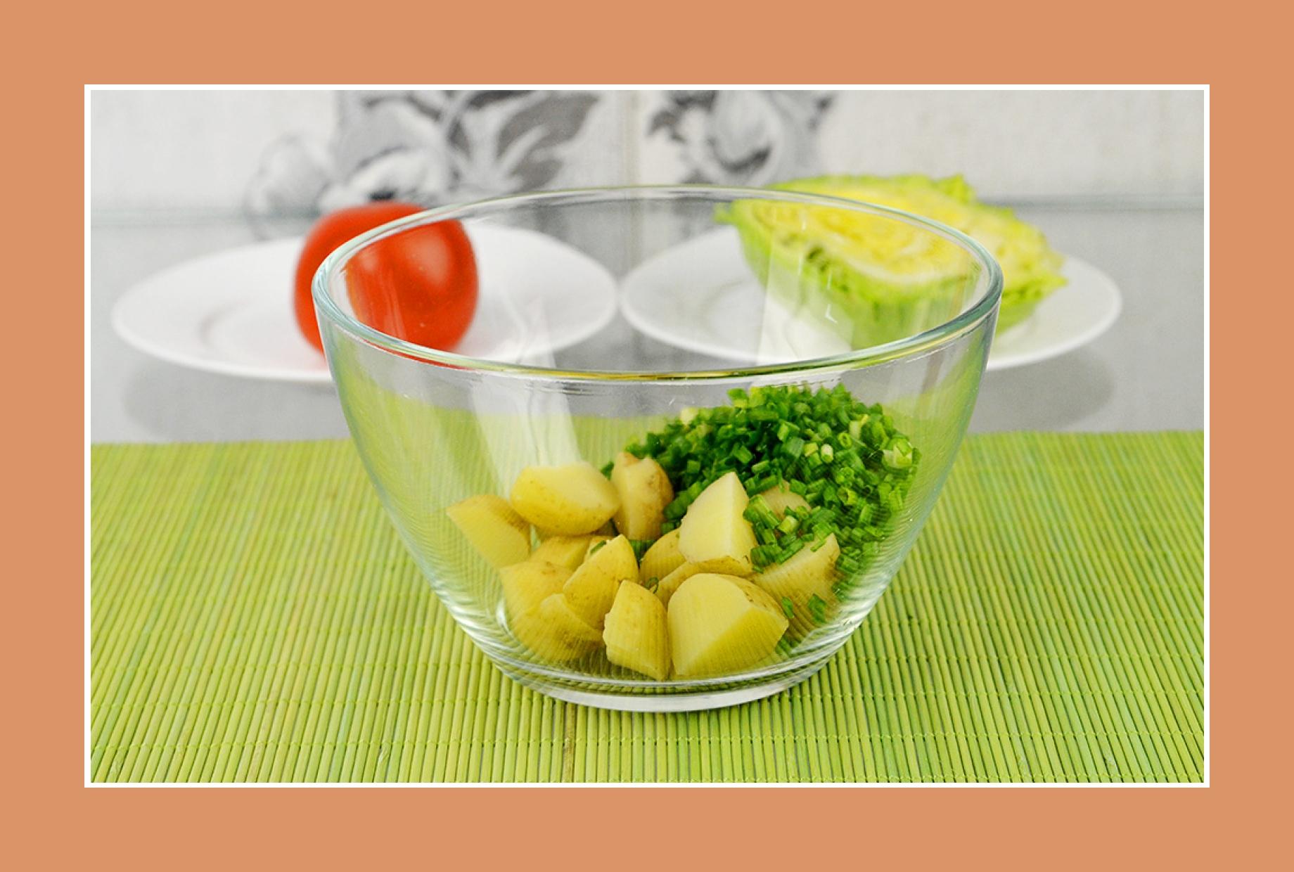 Kartoffelsalat Weißkrautsalat mit Schnittlauch