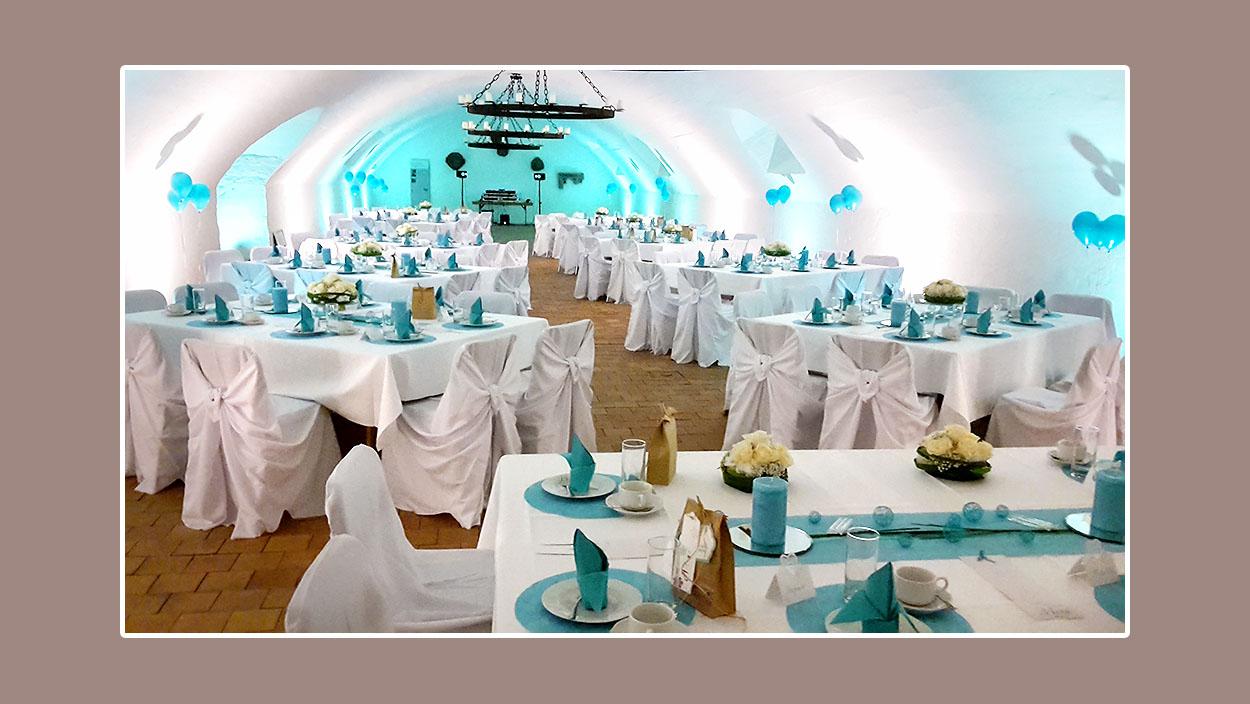 Hochzeitslocation Hochzeitsdeko